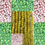 Striped Opaque Seed Beads