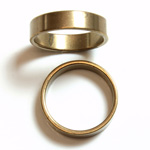 Brass Finger Ring Size 7 - 0.191 inch Round