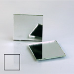 Glass Flat Back Foiled Mirror - Square 25x25MM CRYSTAL