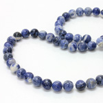 Gemstone Bead - Smooth Round 08MM SODALITE