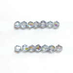 Czech Glass Fire Polished Bead - Bicone 04MM LT SAPPHIRE AB