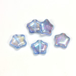 Czech Pressed Glass Bead - Star 12MM LT SAPPHIRE AB