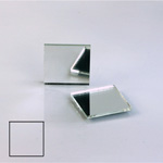 Glass Flat Back Foiled Mirror - Square 18x18MM CRYSTAL