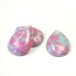 Synthetic Cabochon - Pear 18x13MM MULTI COLOR Matrix SX06 PINK-BLUE-WHITE