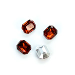 Plastic Point Back Foiled Stone - Cushion Octagon 10x8MM SMOKE TOPAZ