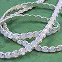 Preciosa Rhinestone Banding with VIVA12® Chaton Rose 1 Row Round 20SS OPAL ROSE-SILVER-WHITE