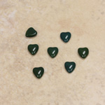 Glass Medium Dome Cabochon - Heart 05x4.5MM FOREST GREEN