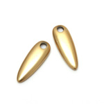 Plastic Pendant - Opaque Color Smooth Pear 30x10MM MATTE GOLD