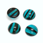 Glass Medium Dome Cabochon - Round 13MM BLUE TORTOISE