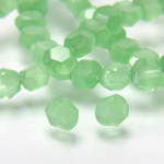 Chinese Cut Crystal Bead - Round Disc Side Drilled 04MM OPAL GREEN