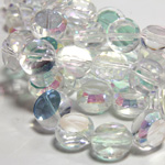 Chinese Cut Crystal Bead - Round Disc Side Drilled 06MM CRYSTAL AB