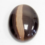 Fiber-Optic Cabochon - Oval 40x30MM CAT'S EYE BROWN
