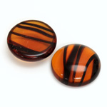 Glass Medium Dome Cabochon - Round 21MM TORTOISE