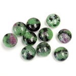 Gemstone Cabochon - Round 08MM ZOISITE RUBY