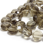 Chinese Cut Crystal Bead - Round Disc Side Drilled 06MM BLACK DIAMOND