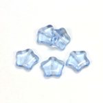 Czech Pressed Glass Bead - Star 12MM LT SAPPHIRE