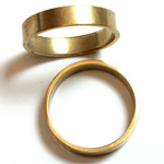 Brass Finger Ring Size 10 - 0.191 inch Round