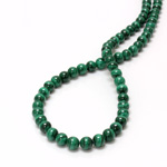 Gemstone Bead - Smooth Round 06MM MALACHITE