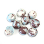 Synthetic Cabochon - Round 09MM Matrix SX07 BROWN-TURQUOISE