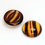 Glass Medium Dome Cabochon - Round 20MM TORTOISE