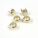 Preciosa Crystal Metal 4 Prong Rivet with Nacre Pearl 4.5MM CREME-GOLD