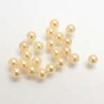 Plastic Pearl No-Hole Ball 04.5MM CREME