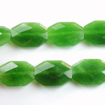Gemstone Bead - Faceted Octagon 18x13MM Dyed QUARTZ Col. 23 TAIWAN JADE