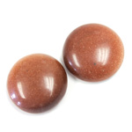 Man-made Cabochon - Round 20MM BROWN GOLDSTONE