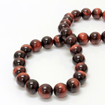 Gemstone Bead - Smooth Round 12MM TIGEREYE RED