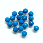 Gemstone No-Hole Ball - 06MM HOWLITE DYED TURQUOISE
