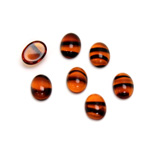 Glass Medium Dome Cabochon - Oval 08x6MM TORTOISE
