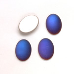 Glass Medium Dome Foiled Cabochon - Coated Oval 14x10MM MATTE VULCANO