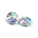 Asfour Crystal Flat Back Sew-On 2 Hole Stone - Octagon 12MM CRYSTAL AB