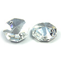 Asfour Crystal Flat Back Sew-On 2 Hole Stone - Octagon 14MM CRYSTAL