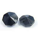 Asfour Crystal Flat Back Sew-On 2 Hole Stone - Octagon 14MM JET