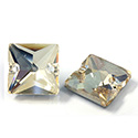 Asfour Crystal Flat Back Sew-On 2 Hole Stone - Square 14MM GOLDEN SHADOW