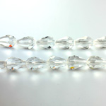 Chinese Cut Crystal Bead - Pear 11x7MM CRYSTAL