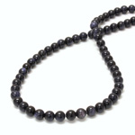 Man-made Bead - Smooth Round 06MM BLUE GOLDSTONE