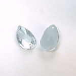 Plastic Flat Back 2-Hole Foiled Sew-On Stone - Pear 22x11MM CRYSTAL