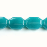 Gemstone Bead - Round Cushion Octagon 19x14MM Dyed QUARTZ Col. 21 TEAL