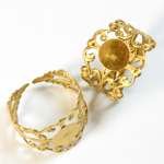 Adjustable Brass Finger Ring Adjustable with 08MM Pad