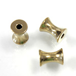 Brass Bead - Lead Safe Machine Made Concave Tube 08x6MM RAW BRASS
