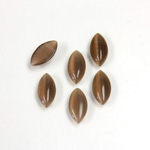 Fiber-Optic Cabochon - Navette 10x5MM CAT'S EYE BROWN