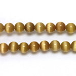 Fiber-Optic Synthetic Bead - Cat's Eye Smooth Round 06MM CAT'S EYE LT BROWN
