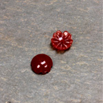 Gemstone Flower Carved Round with Center Hole 08MM CORNELIAN