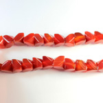 Gemstone Faceted V-Cut Bead 08x8MM CORNELIAN DYED AGATE