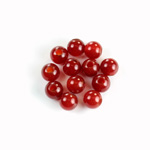 Gemstone Bead - Smooth Round 2.5MM Diameter Hole 07MM CORNELIAN