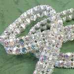 Rhinestone Banding with MC Chaton 2 Row - Round 19SS CRYSTAL AB-WHITE-SILVER