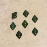 Glass Medium Dome Cabochon - Diamond 09x6MM FOREST GREEN