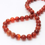 Gemstone Bead - Smooth Round 10MM CORNELIAN